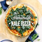 homemade kale pizza: A delicious and healthy take on traditional homemade pizza. So easy!