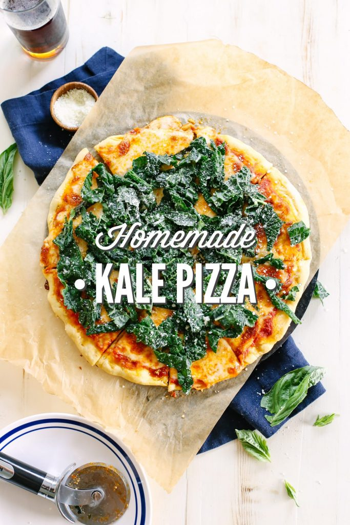 I'm not a huge kale fan, but this pizza is amazing! The kale has a lemon and garlic twist that pairs so well with the easy homemade pizza. Big family favorite! Feels gourmet, but it's super easy to make!