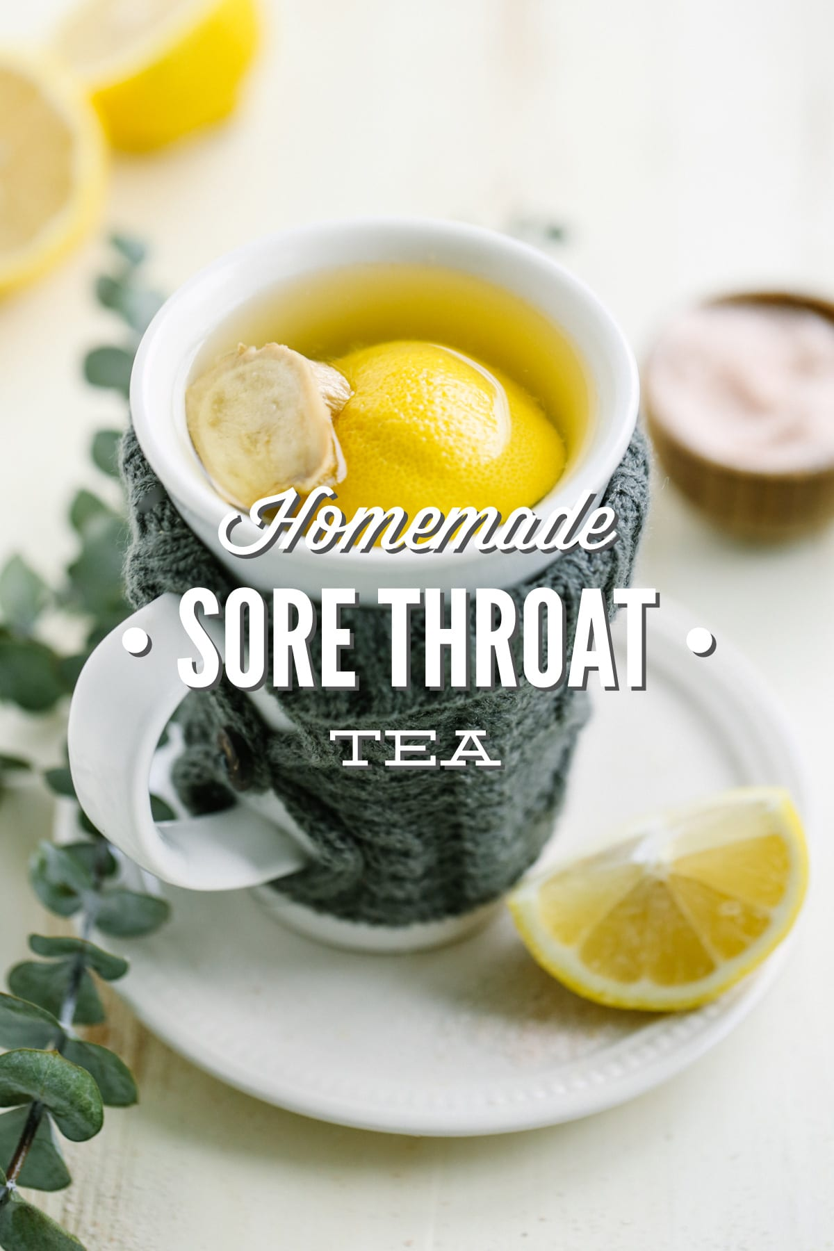 soothing honey and lemon sore throat tea - live simply