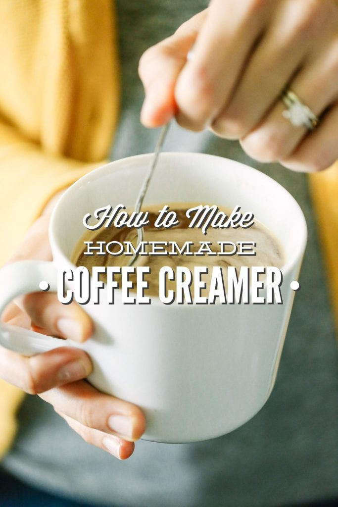 Homemade coffee creamer with only four REAL ingredients! No cans or fake ingredients.