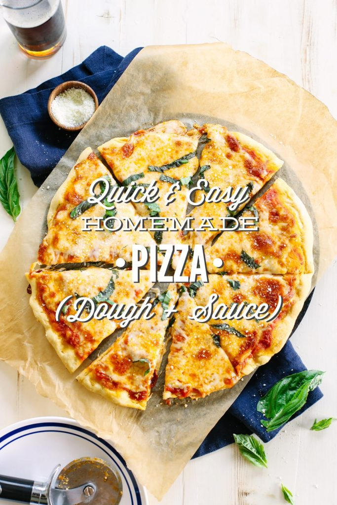 quick and easy homemade pizza dough and sauce live simply