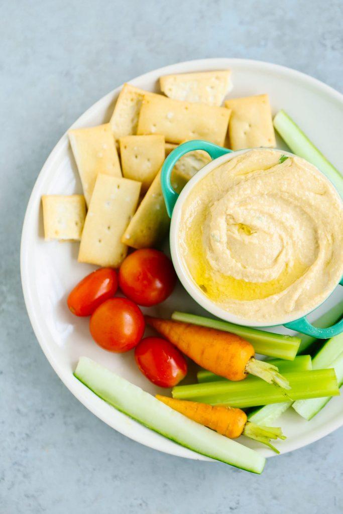 From Scratch Roasted Garlic Hummus. So easy and soooo good!
