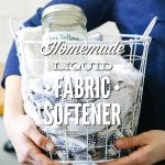 "This is seriously so easy!!! A fabric softener ""made"" using one pantry ingredient. Leaves laundry soft and fluffy, and costs just pennies per load of laundry. 100% natural. I'll never go back to store-bought laundry softener."