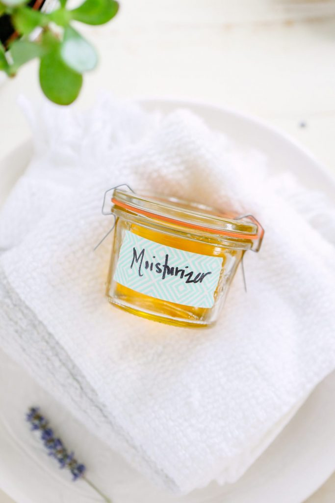 An easy two ingredient moisturizer made with nourishing oils. Plus, options for finding a moisturizer that works for your skin!