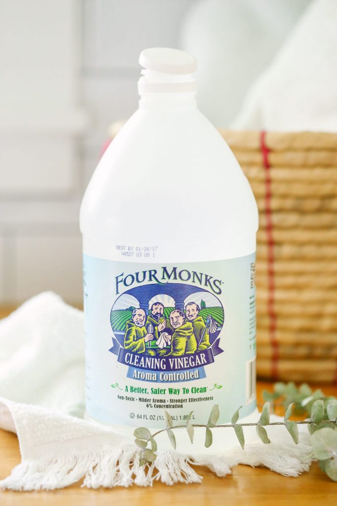 A fabric softener made using one pantry ingredient. Leaves