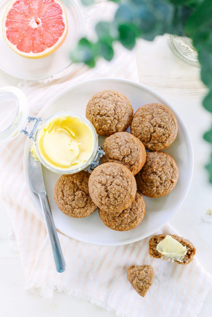 Spiced Oat Applesauce Muffins