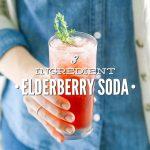 3 Ingredient Elderberry Soda