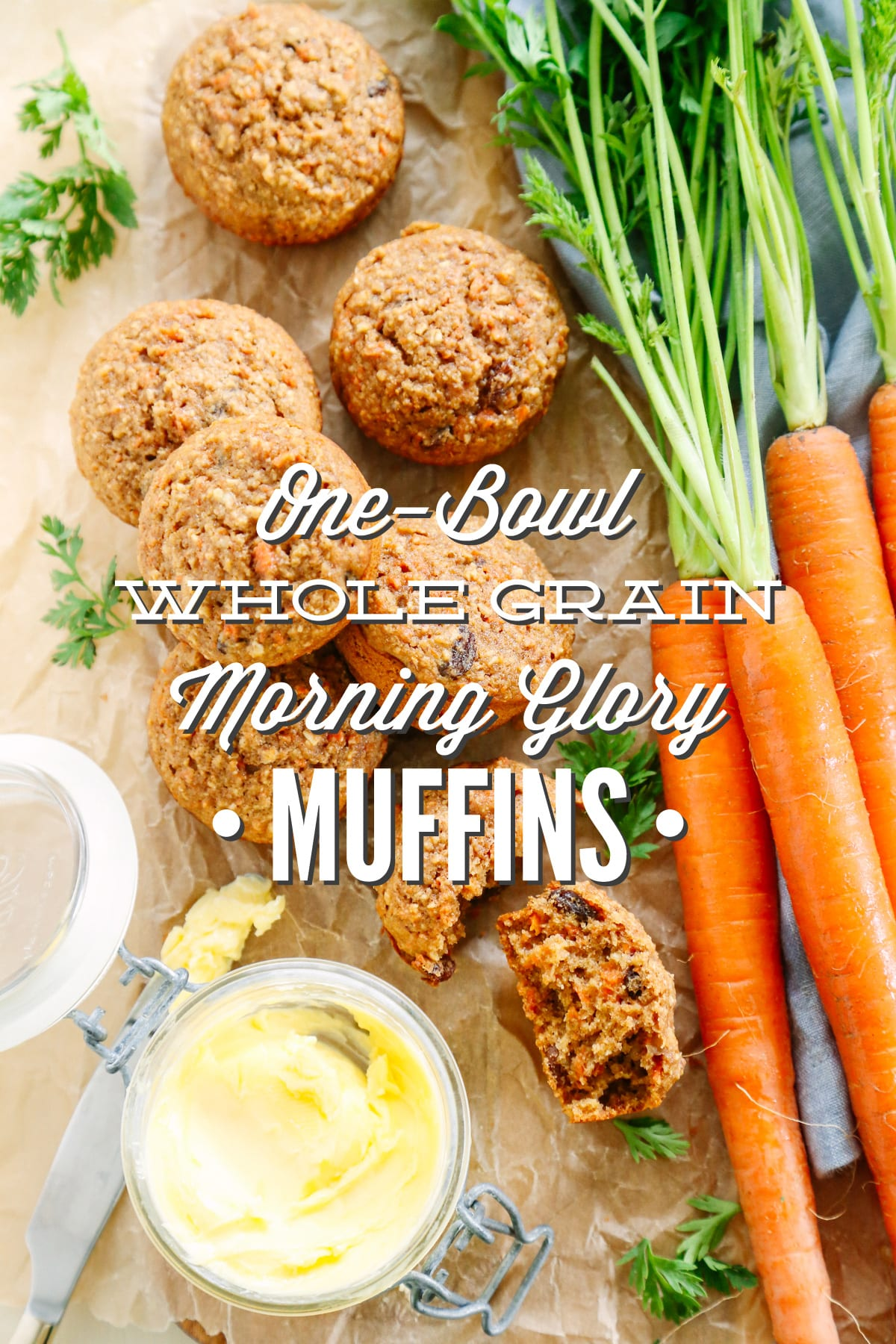 One-Bowl Whole Grain Morning Glory Muffins - Live Simply
