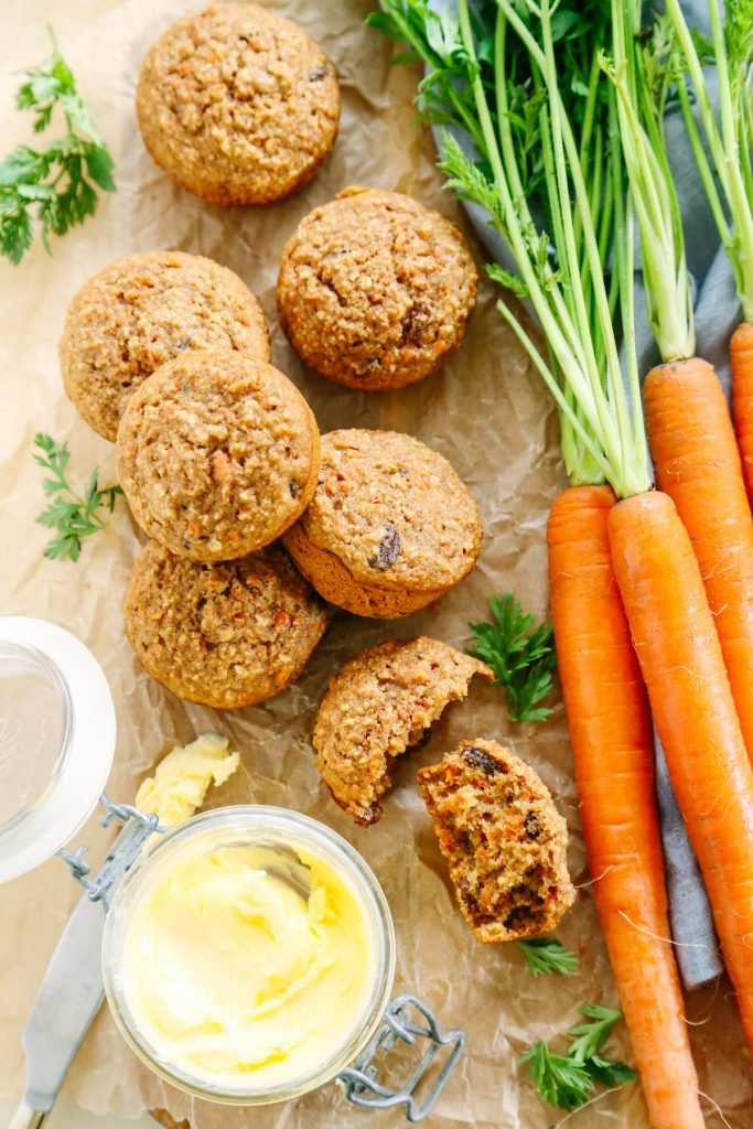 Love these! Morning glory muffins that call for 100% real food, nutrient-rich ingredients (but nothing fancy or expensive). My kids love these, too! Total breakfast win!