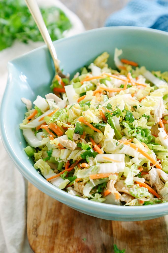 This salad is so good and refreshing, plus it can be prepped ahead of time. 100% real food ingredients. Make this for lunch this week, or as a simple dinner.