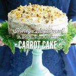 Honey-Sweetened Applesauce Carrot Cake