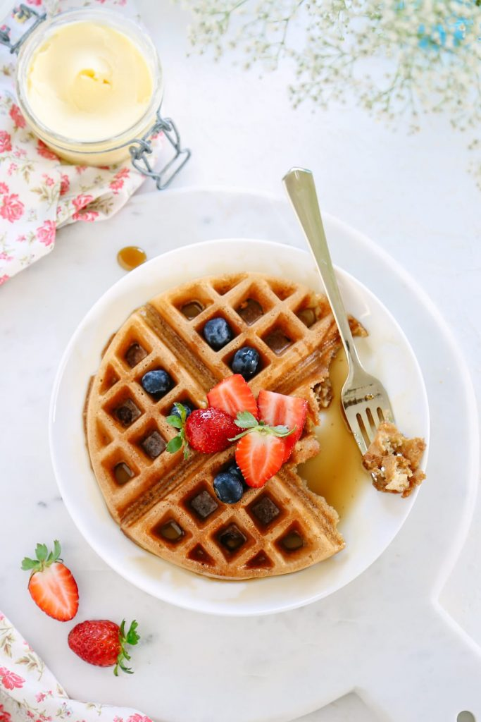 Easy Whole Grain Waffles. Skip the Eggo box and whip up a double batch of these delicious, healthy waffles for crazy school day breakfasts!