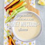4-Ingredient Homemade Honey Mustard Sauce