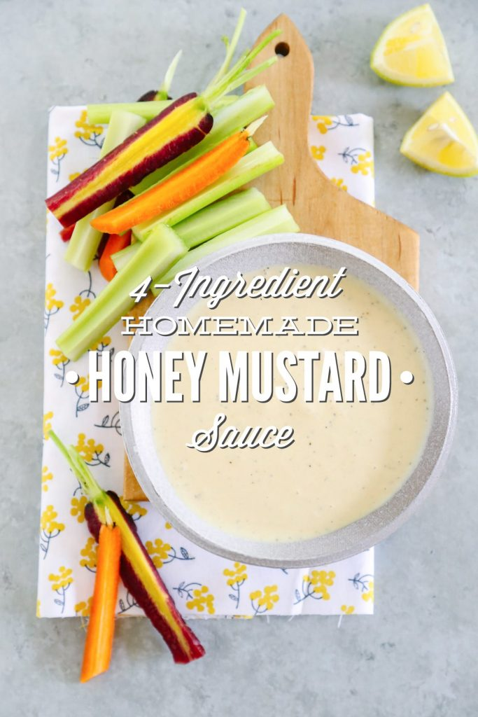 4-Ingredient Homemade Honey Mustard Sauce. Homemade honey mustard sauce only requires four simple ingredients and about five minutes of time. That's it!