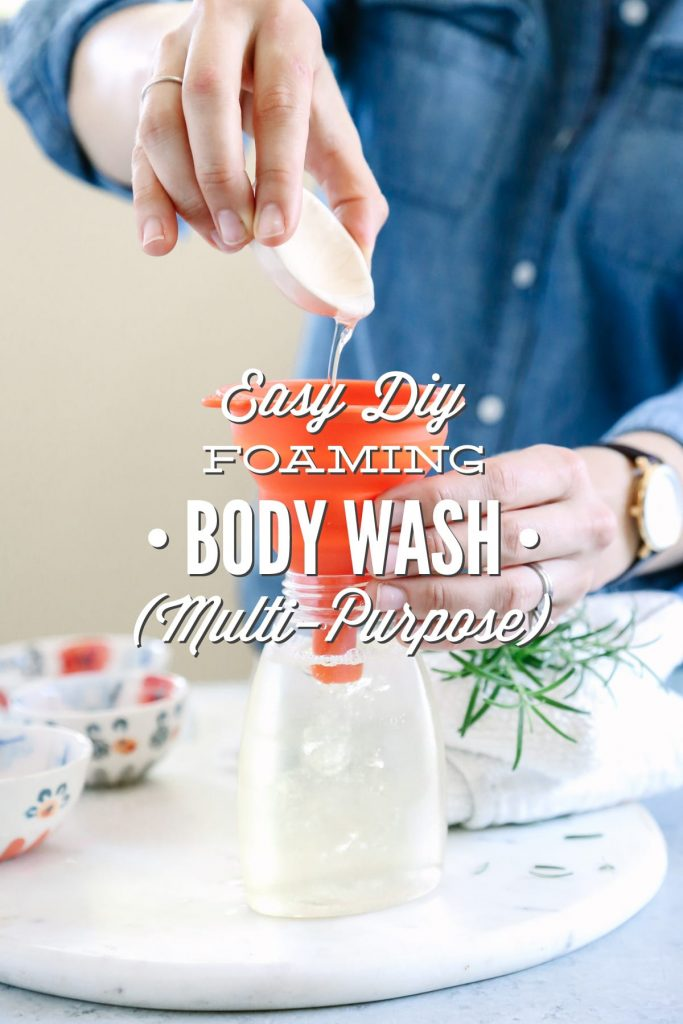 This Easy DIY Foaming Body Wash is the perfect way to wash the dirt away!