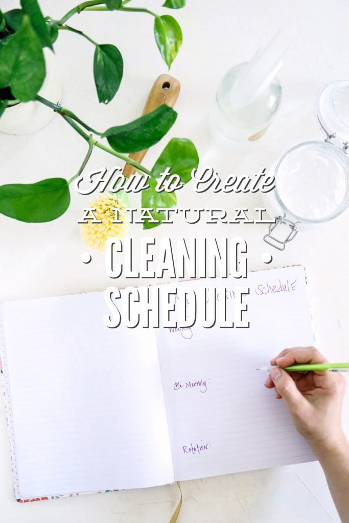 How to create a natural cleaning schedule that works for you and your house! Create your plan to get your house clean and keep it that way!