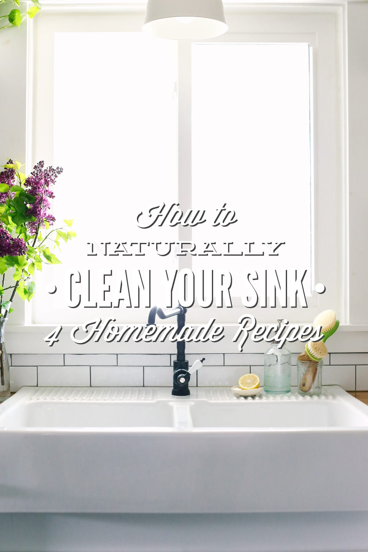 How to naturally clean your sink 4 homemade recipes for How to clean bathroom drain