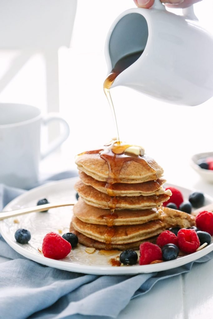 Busy Morning Almond and Oat Pancakes: A Quick and Easy Blender and Freezer-Friendly Pancake Recipe