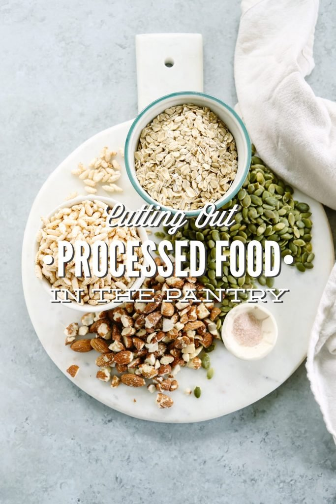 Love this! How to practically cut-out the processed food from your pantry and life. Yummy recipe ideas and substitutions.