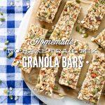 Homemade No-Bake Trail Mix Granola Bars