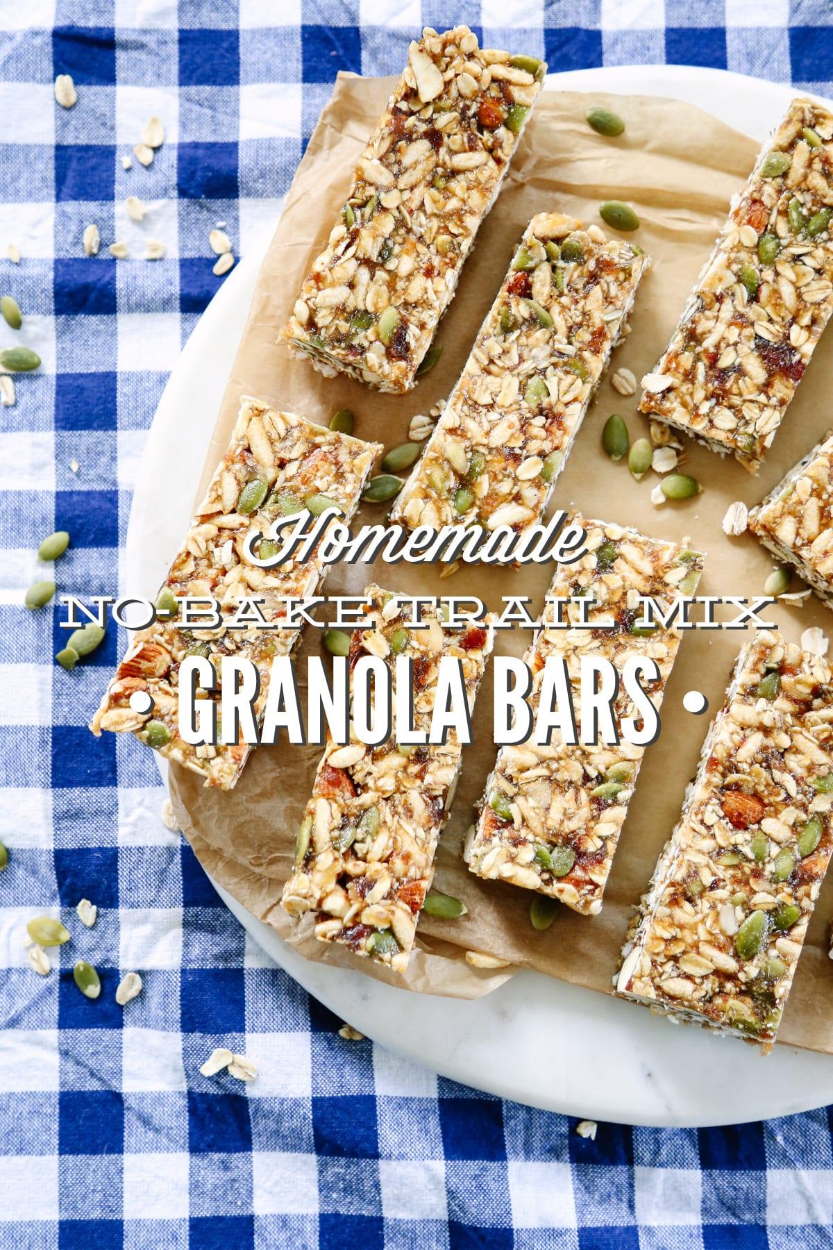 Homemade no bake trail mix granola bars freezer friendly live simply solutioingenieria Choice Image