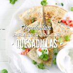 Vegetarian Bean and Kale Quesadillas