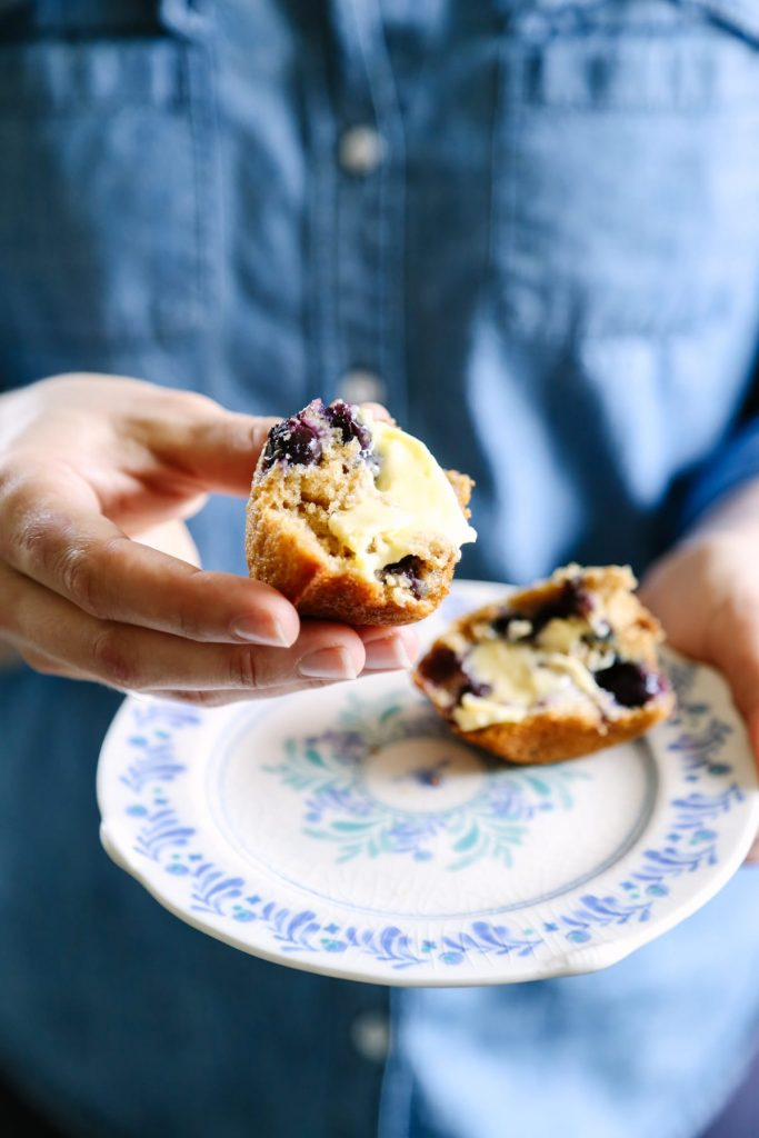 Sooo good! These blueberry muffins are made with whole grain flour, maple syrup, and (of course) blueberries. Everyone in the family loves these muffins. Just like a bakery muffin but healthier!