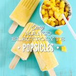 Easy Mango Electrolyte Popsicles