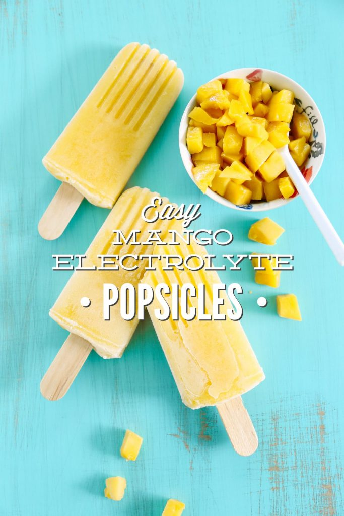 Yum! Seriously love these homemade popsicles. So easy to make, and they're so refreshing in the summer heat. Natural electrolyte popsicles.