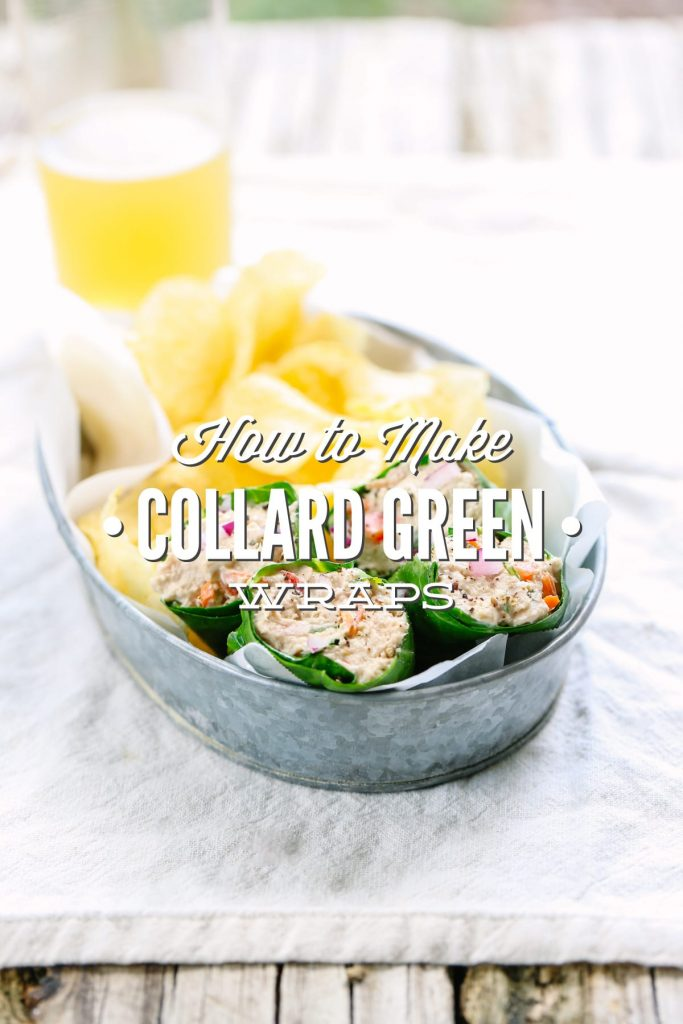 Such a fun way to enjoy leafy greens! I fill these wraps with chicken salad, tuna salad, veggies, or 'cleaner' lunchmeat and cheese. So yummy!