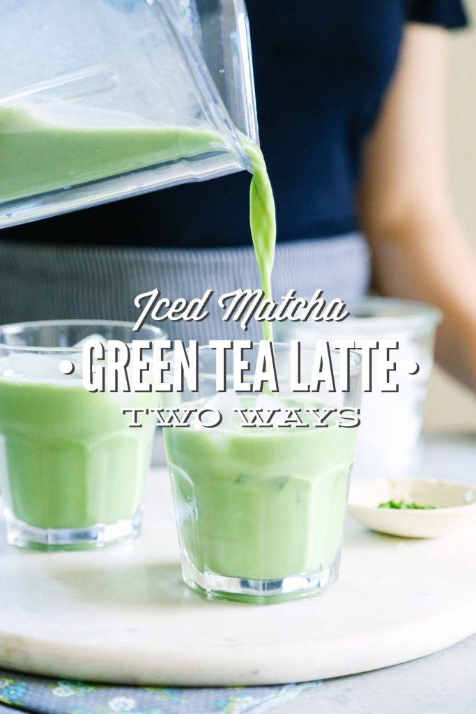 "Yum! I love matcha drinks, but I hate the coffee shop price. I can't believe how easy it is to make a matcha drink at home. This recipe includes two options: an iced ""latte"" (matcha milk) or a frappucino-style drink."