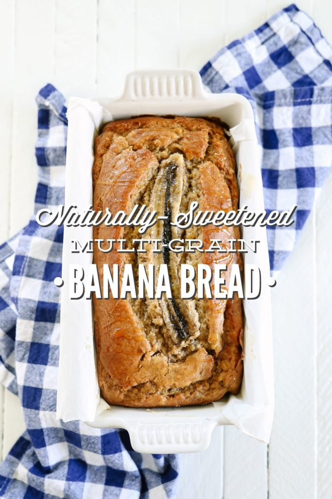 Seriously the best banana bread I've ever made. So yummy, and it's made with 100% real ingredients: whole grains and natural sweeteners (maple syrup and banana).