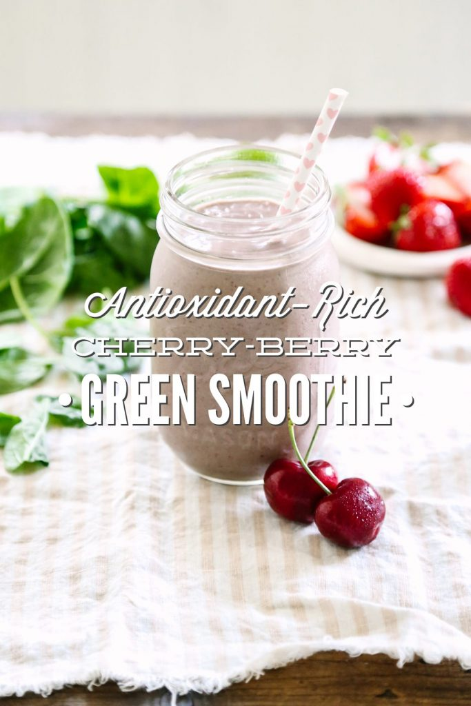 So good! Packed with easy-to-find and healthy ingredients: berries, cherries, and even a simple nut milk! This is such a filling and antioxidant-rich smoothie.