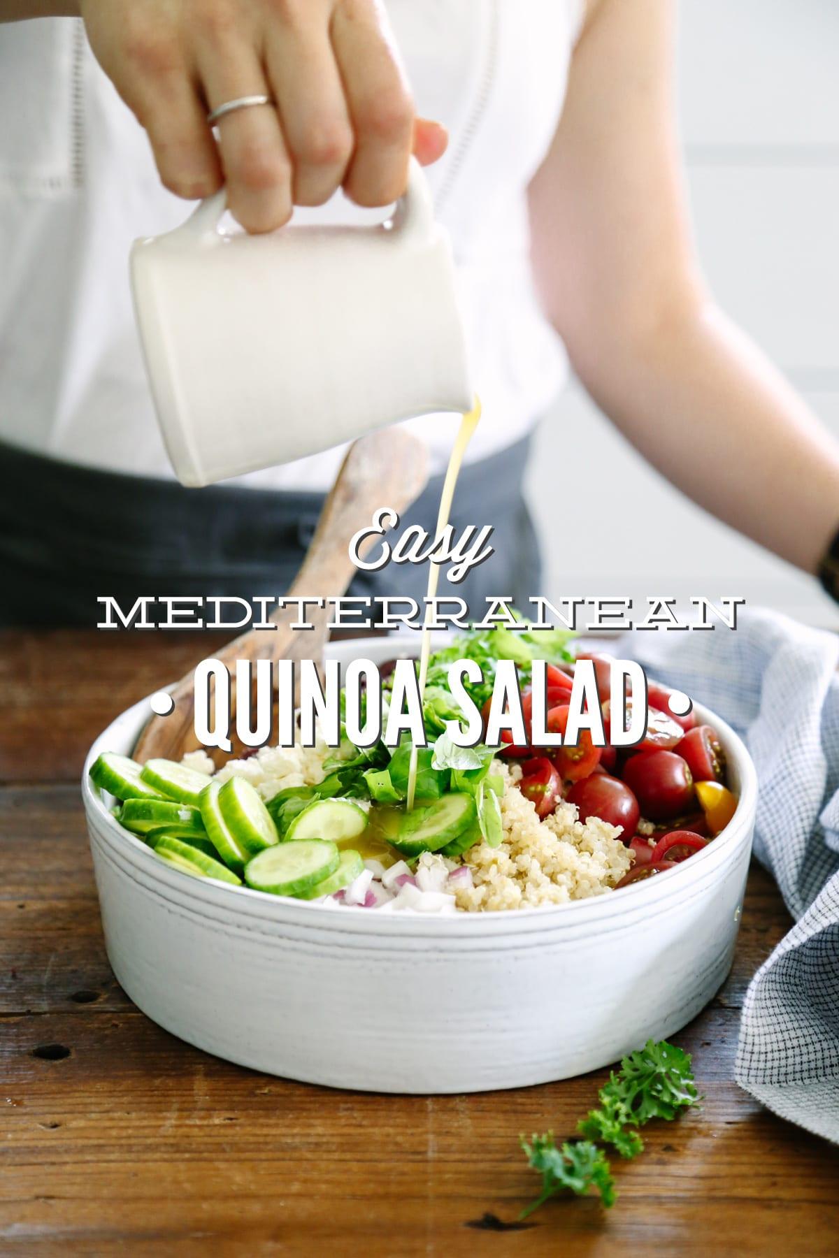 Easy Mediterranean Quinoa Salad