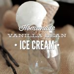 Homemade Vanilla Bean Ice Cream