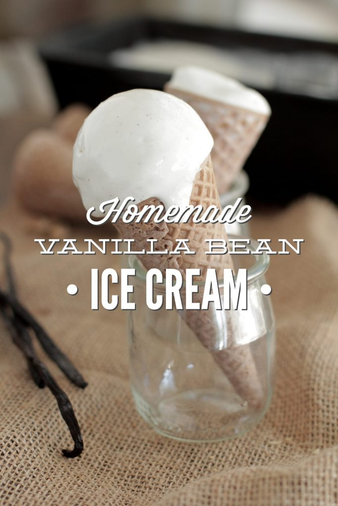 The BEST homemade vanilla bean ice cream. No processed ingredients, no guilt.