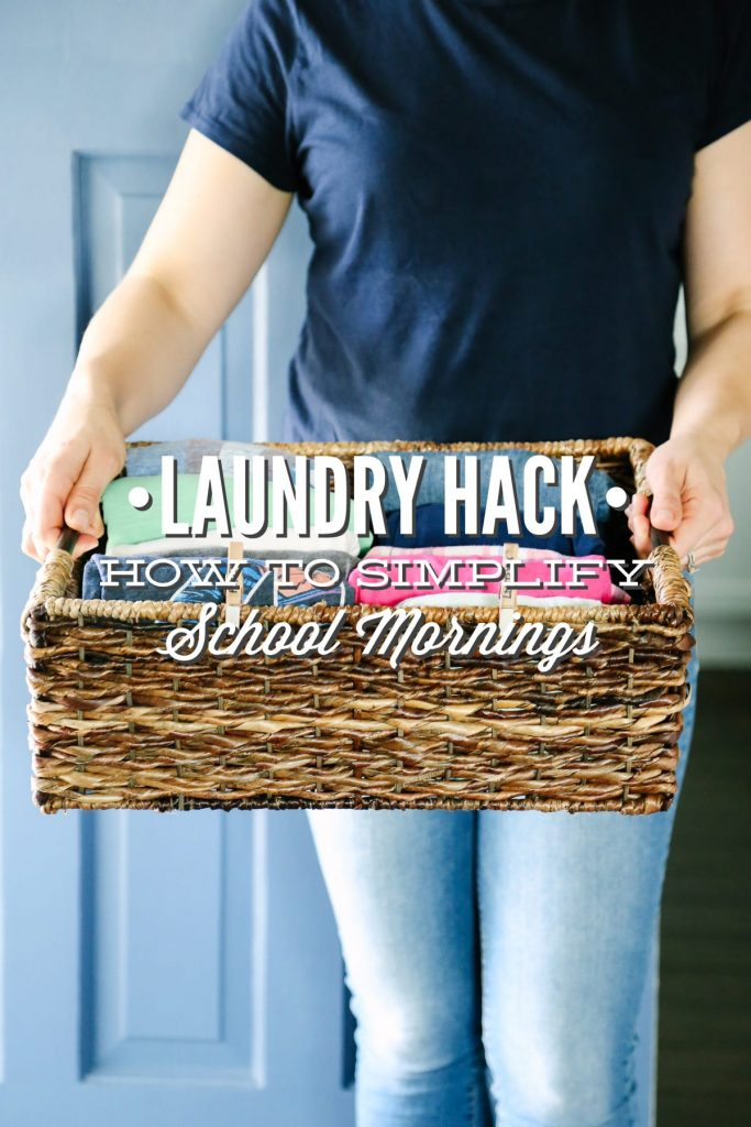 This clothes hack has bought us at least an additional 15 minutes every single school morning! So easy!