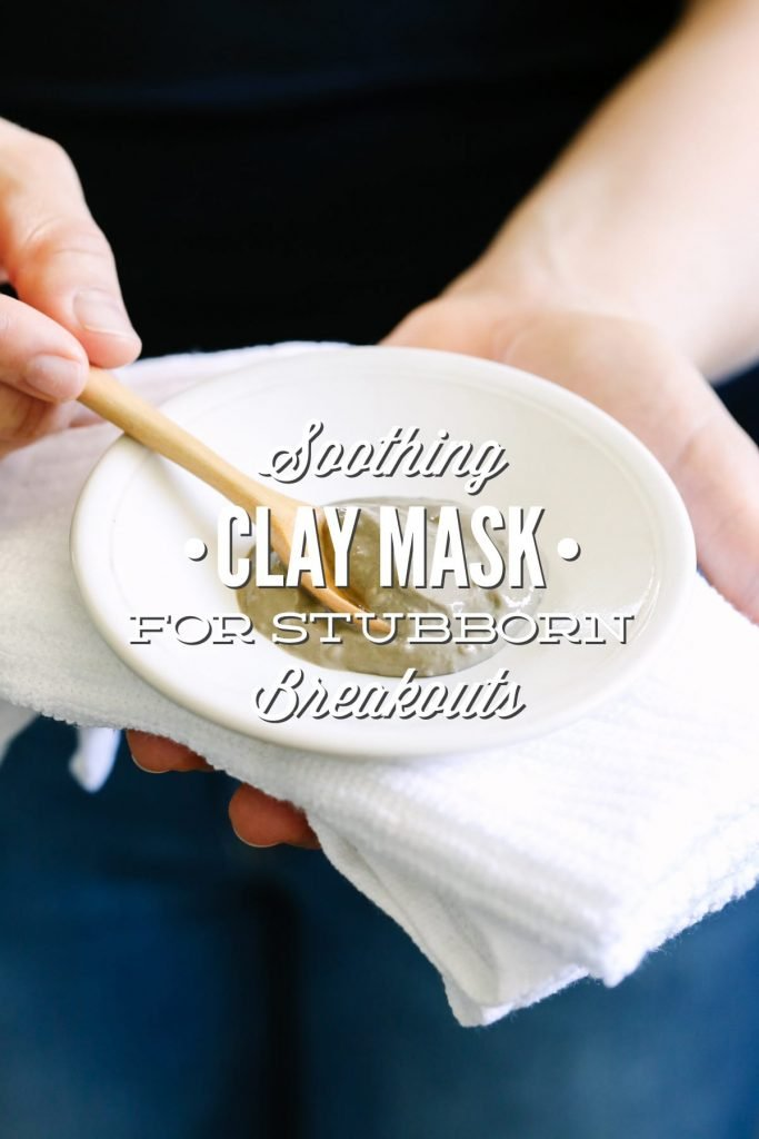 Each ingredient in this soothing clay mask comes together to soothe my irritated skin and fight against a stubborn breakout.