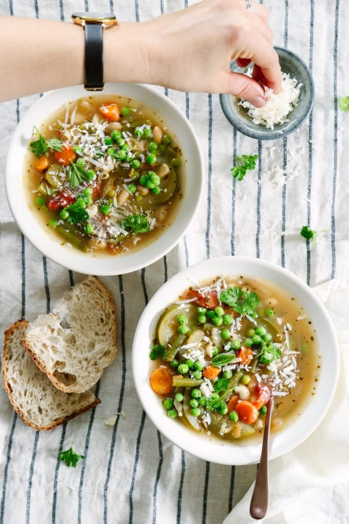 So good! Love this healthy garden-inspired soup. Makes enough for dinner and lunch. A vegetarian soup that's hearty, naturally- flavorful, and easy to make!