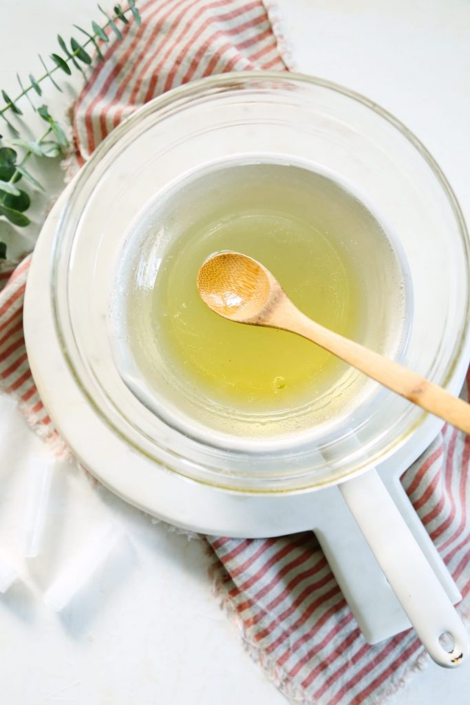 How to make a simple lip balm with only three ingredients! This easy lip balm takes less than 10 minutes to make.