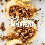 Honey Cinnamon Baked Pears