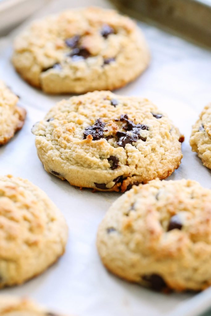 Almond Flour Chocolate Chip Cookies Honey