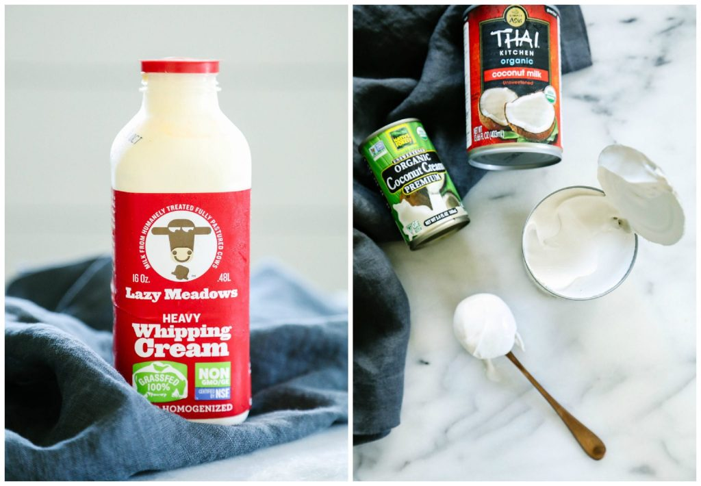 So good! Both a dairy and dairy-free option for this real food whipped cream.