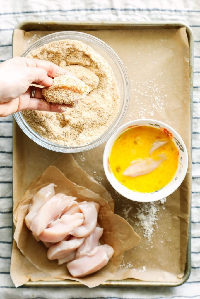 Easy. Healthy. Delicious. My family raves about these baked chicken tenders/strips.