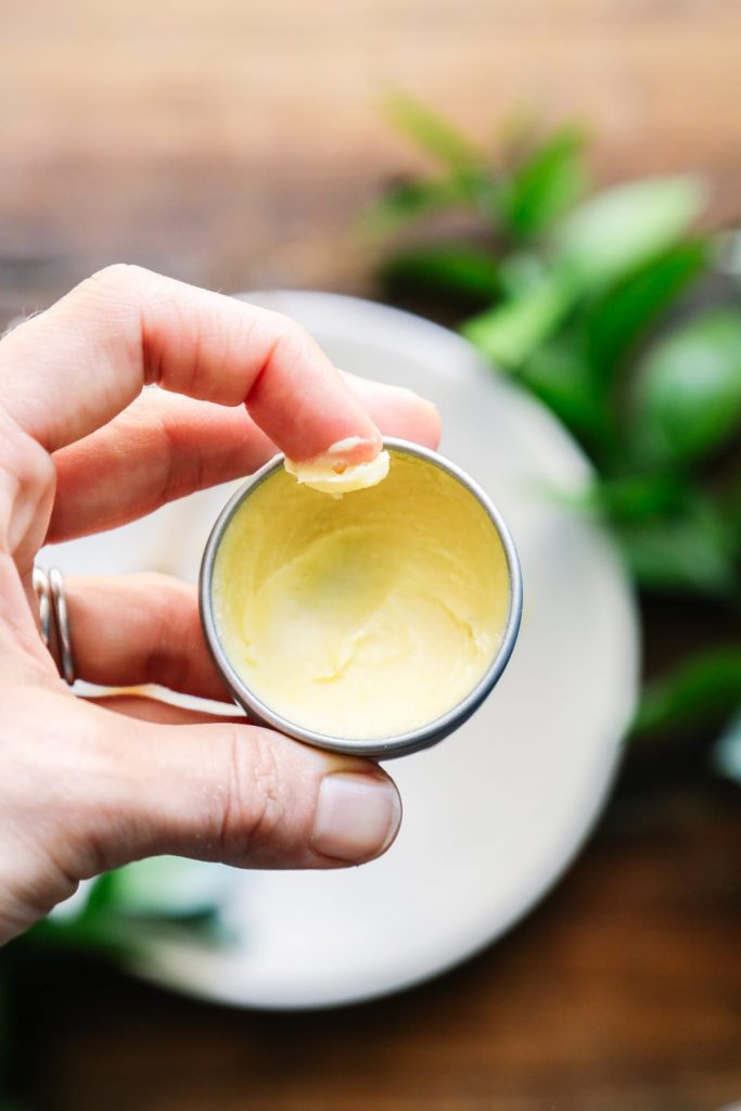 Love this simple honey lip balm. The honey perfectly blends with the other simple ingredients. Cooling and soothing!