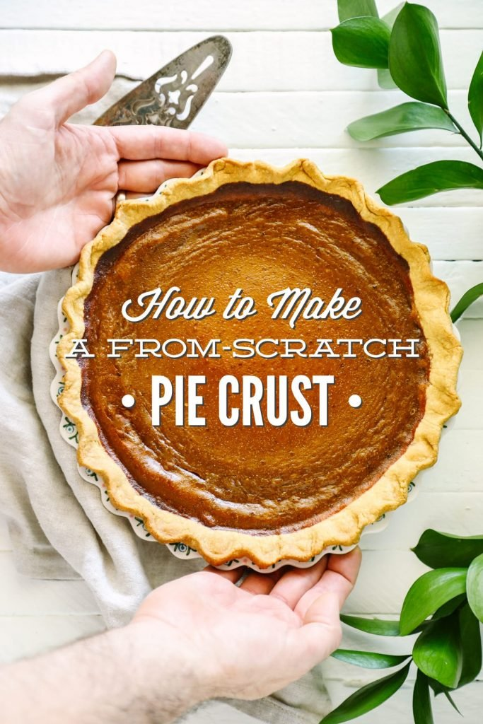How to make a from-scratch pie crust with whole grain flour and real ingredients. So easy. So flaky.