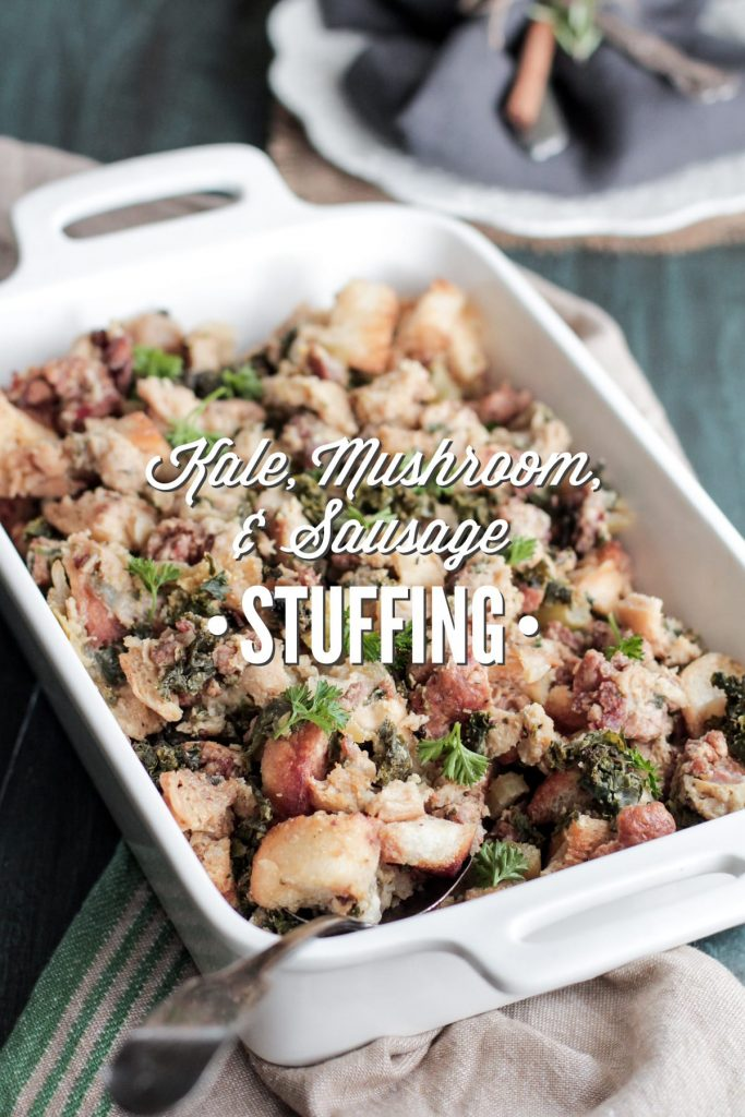 Yum! From-scratch stuffing that's made with real ingredients. This is a favorite every year.