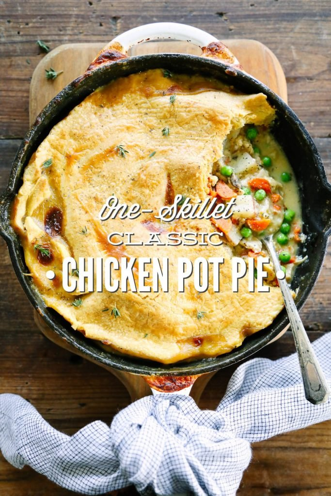 This ain't your grandma's chicken pot pie! So easy to make in one pot!
