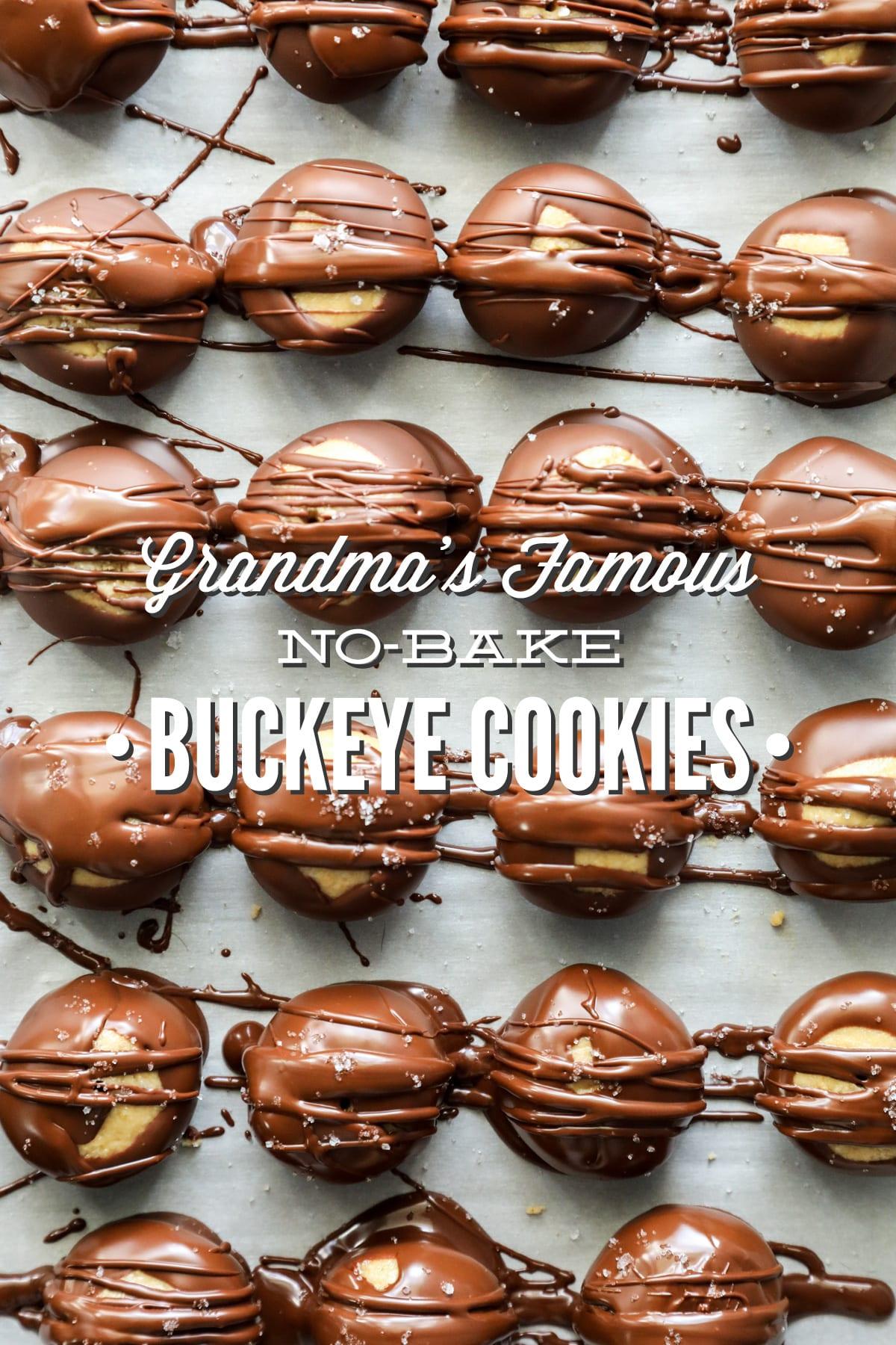 Grandma's Famous No-Bake Buckeye Cookies