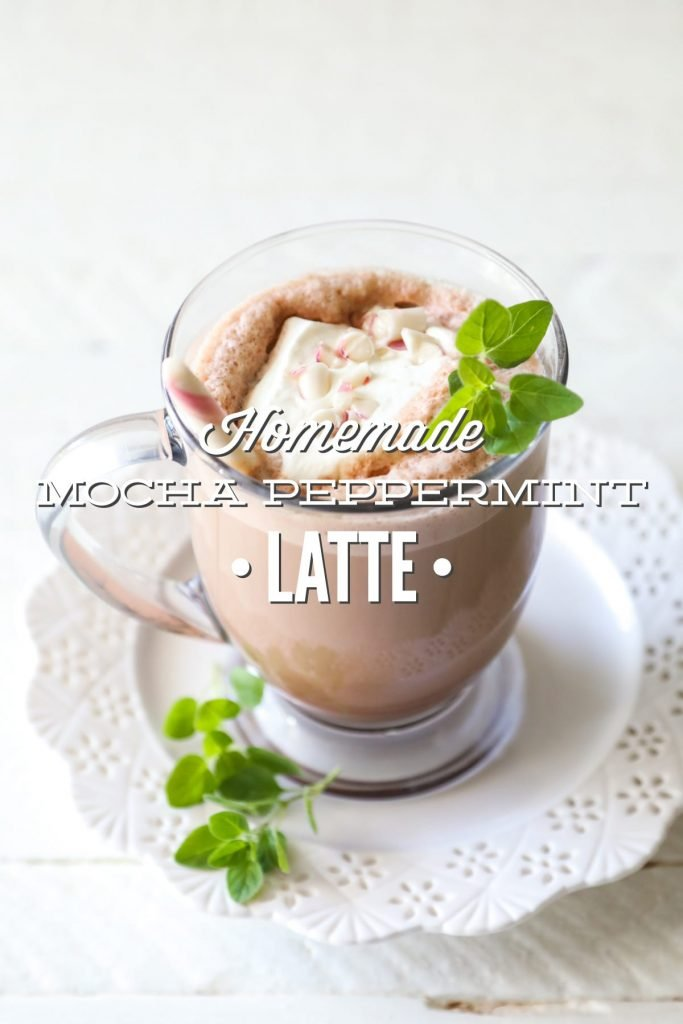 So delicious and easy. A real food style mocha peppermint latte.